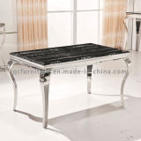 Hot Selling Stainless Steel Marble Dining Table for Living Room Furniture