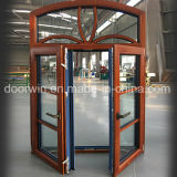 European and America Style Aluminum Wood Casement Window with Full Divided Lites