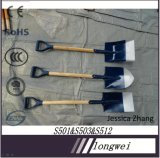 High Quality Cheap Price Painted Garden Hand Tools with Long Wooden Handle S503L Shovel