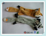 Wholesale Unstuffed Fox Plush Pet Toy for Dogs with Sound