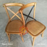 China Wood Stackable Banquet Cross Back Wedding Chairs