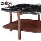 Modern Black Marble Top Side Table