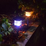 Solar Post Lights Outdoor Fence Deck Caps Light Solar Powered Warm White LED Lighting Waterproof for Garden Patio Decoration