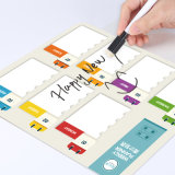 Magnetic Dry Erase Writing White Board, Fridge Magnet Board with Marker and Eraser