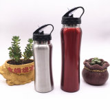 750ml Stainless Steel Outdoor Sports Water Bottle with Straw (SH-ST10)