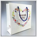 Matte Shopping Paper Bag/Gift Paper Bag with Ribbon Handle
