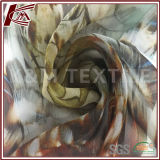 Good Vertical Floral Printed Silk Georgette Fabric Wtih 100% Silk