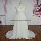 Chiffon Cap Sleeve Beach Causal Wedding Dress