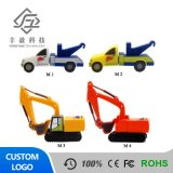 Car Shape Custom USB Flash Drive 2D3d Silicon Mixer Truck Digging Machine USB Sticks