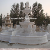 Sqaure Place White Marble Fountain Stone Sculpture (SY-F030)