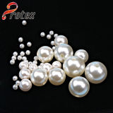 Perfect Round Loose Excellent Quality White Round Half Hole/ Full Hole Plastic Pearl