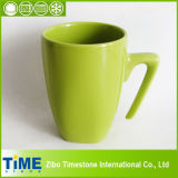 Square 500ml White Ceramic Water Cup