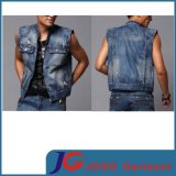2015 Summer Sleeveless Fashion Body Shape Boys Jeans Vest (JC7039)