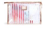 Striped PVC Transparent Waterproof Wash Bag Travel Large Capacity Cosmetic Bag
