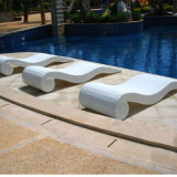 Beach Swimming Pool Outdoor Lounger Chair Wicker / Rattan Sun Lounger / Rattan Sun Bed T523