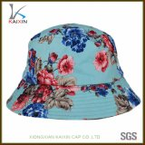 Wholesale Plain Flower Printed Bucket Hat with String