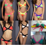 New Style Fashion Lwo Price Cheap Monokini Sexy Stripe Bikini