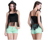 OEM New Design Sexy Backless Tassel Tank Top