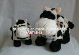 Lovely Standing Plush Cow with Cow Printing Soft Material