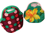 Promotional Cooler Insulated Neoprene Lunch Bag with Zipper for Office