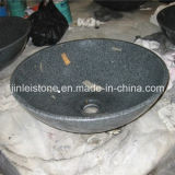 G654 Dark Grey Granite Stone Round Bowl Basin for Bathroom