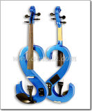 3 Band Blue Colored Electric Violin with Case (VE201)