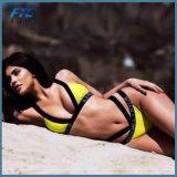 Fashion Yellow Sexy Triangle Bikini Swimwear Beachwear
