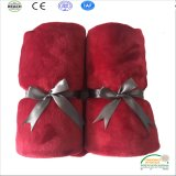 2017 New Design Wine Color High Quality Coral Fleece Baby Blanket