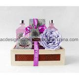 Best Selling Hot Sale SPA Bath Accessories Shower Gel Shampoo Gift Set in Wooden Box