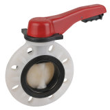PVDF Lever Butterfly Valve, Wafer Type