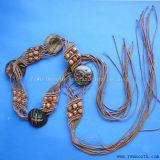 Cotton Rope Braided Tassel Beads Ethnic Belt Chain Women's Dress