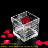 Wholesale Clear Acrylic Flower Packaging Box 1 Hole Rose Display Box