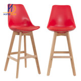 Eames Plastic Tulip Wooden Leg Bar Stool/ Bar Chair
