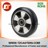 High Elastic Black Rubber Wheel with Aluminum Center, Diameter 150*50mm