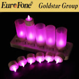 Purple Rechargeable LED Light Candle