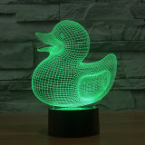 7 Color USB 3D Duck Kids Night Light