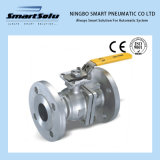 GB Manual Operated Flanged End High Mounting Pad Ball Valve