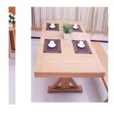 Oak Folding Dining Table Home Furniture with Dinding Chair or Bench