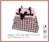 Offset Printing Gift Bag Paper Hand Bag with Silk Ribbon