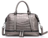 Italian Leather Handbag Ladies Bags in China with SGS (ZX10298)