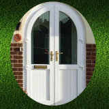 European Style Top Round Opening UPVC Door