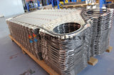 Crystal Particle/Fiber/Sticky Material Medium Free Flow Stainless Steel Wide Channel Plate Heat Exchanger