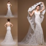 China Ivory Lace Mermaid Wedding Gown Bridal Dress 1901