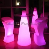 Modern Nightclub Furniture Lighted up LED Bar Table
