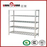 Four Tier Standing Shelving Unit with Embossed Shelf