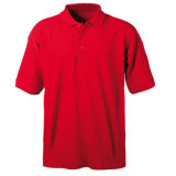 Plain Red Polo Shirt Clothing with Cheap Factory Price (PS249W)