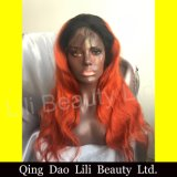 Fashion Short Style Glueless Full Lace Human Hair Wigs Ombre Color Customized Wig for Black Woman