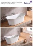 Solid Surface Bathroom Accessories Certificated Bathtub 1700*750*850