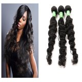 Brazilian Virgin Human Hair Clips in Human Hair Weft