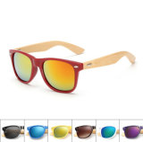 Bamboo Sunglasses with Plastic Front and Bamboo Arm